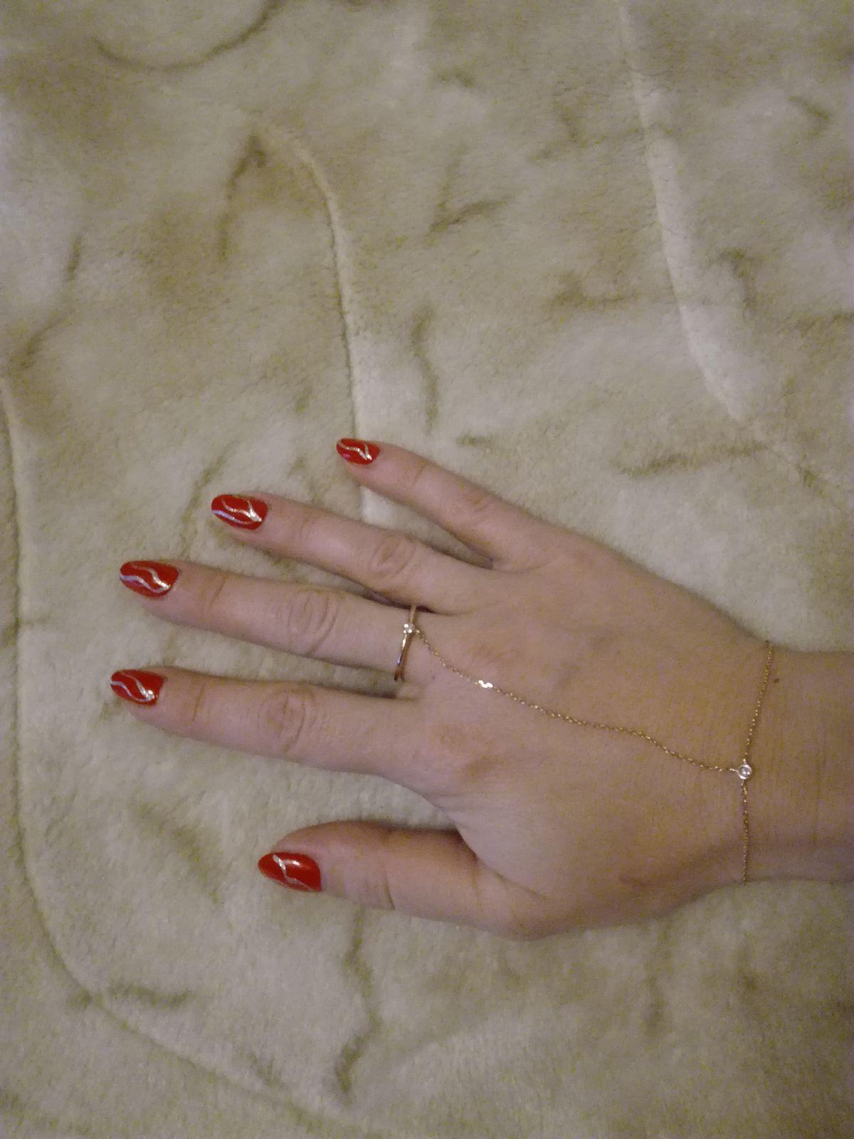 Кольцо с цепочкой.