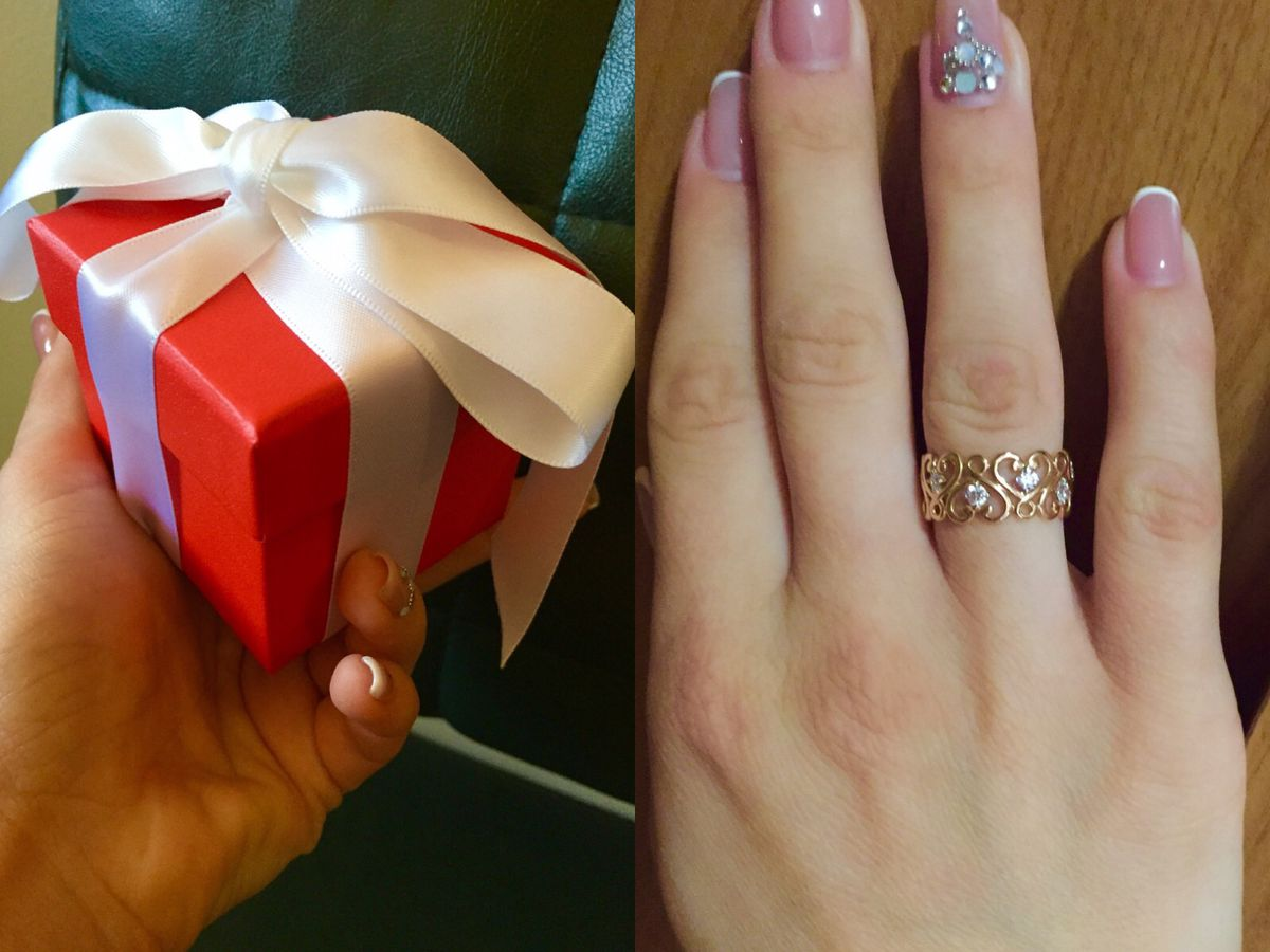 Шикарное!Не однотипное кольцо