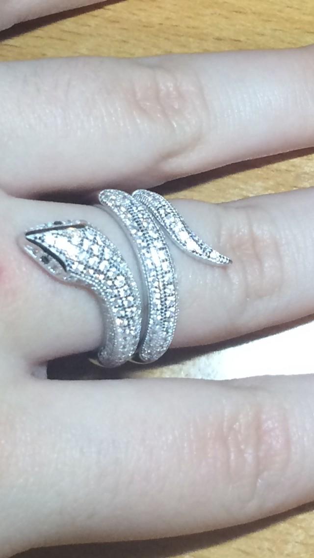 Серебряное кольцо(змея)
