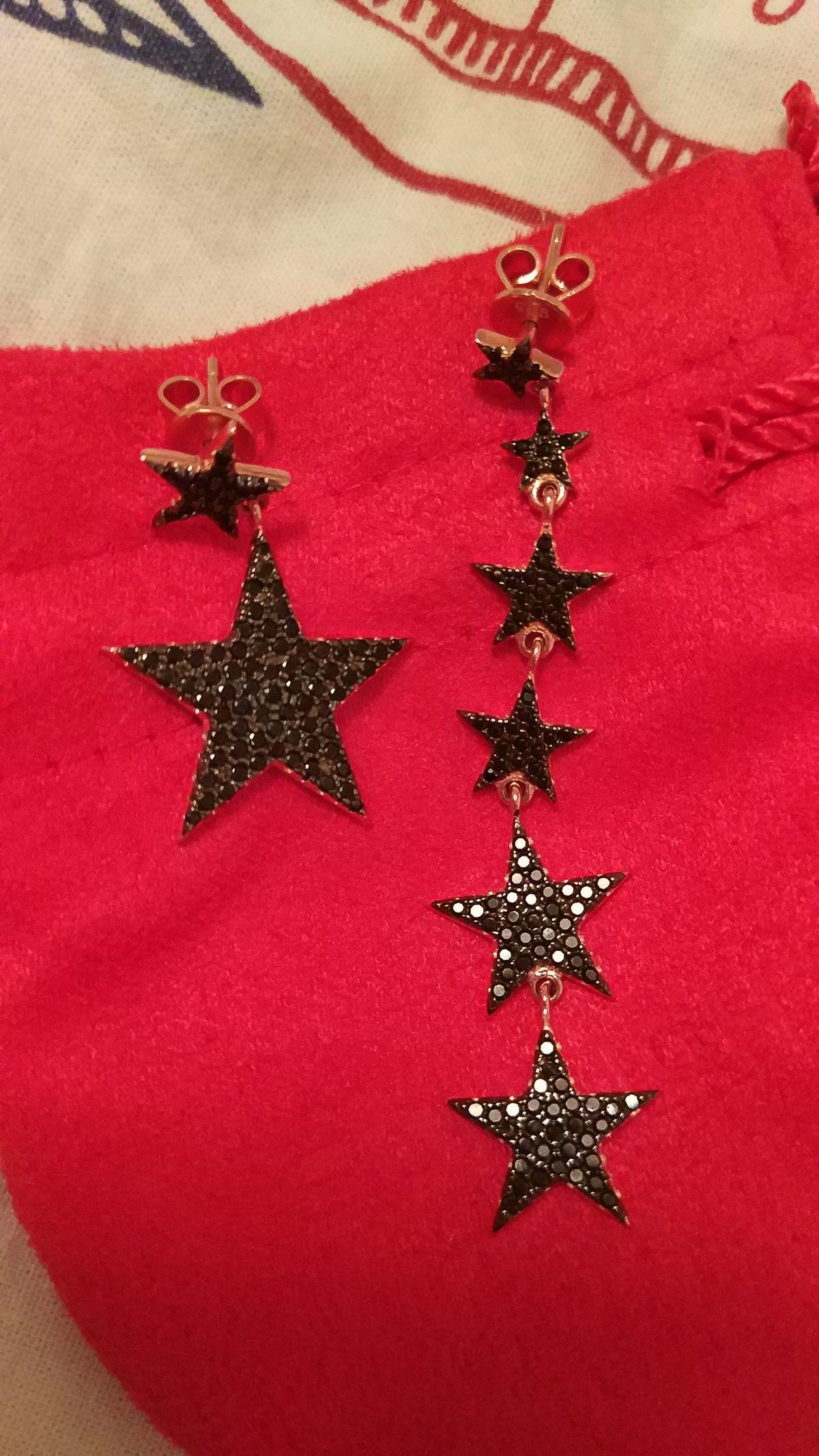 Серьги в виде звёзд ⭐