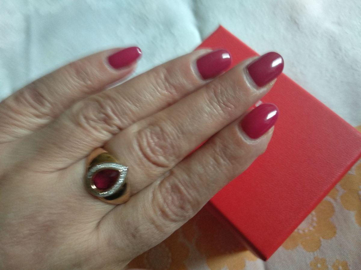 Золотое кольцо с рубином.