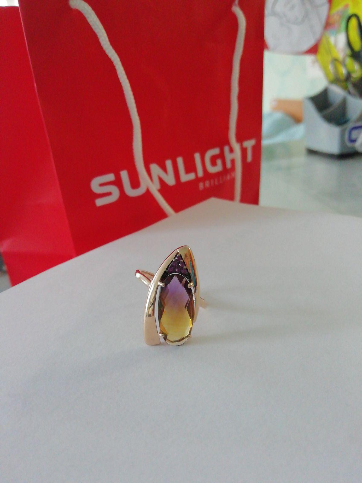 Кольцо с аметрином.