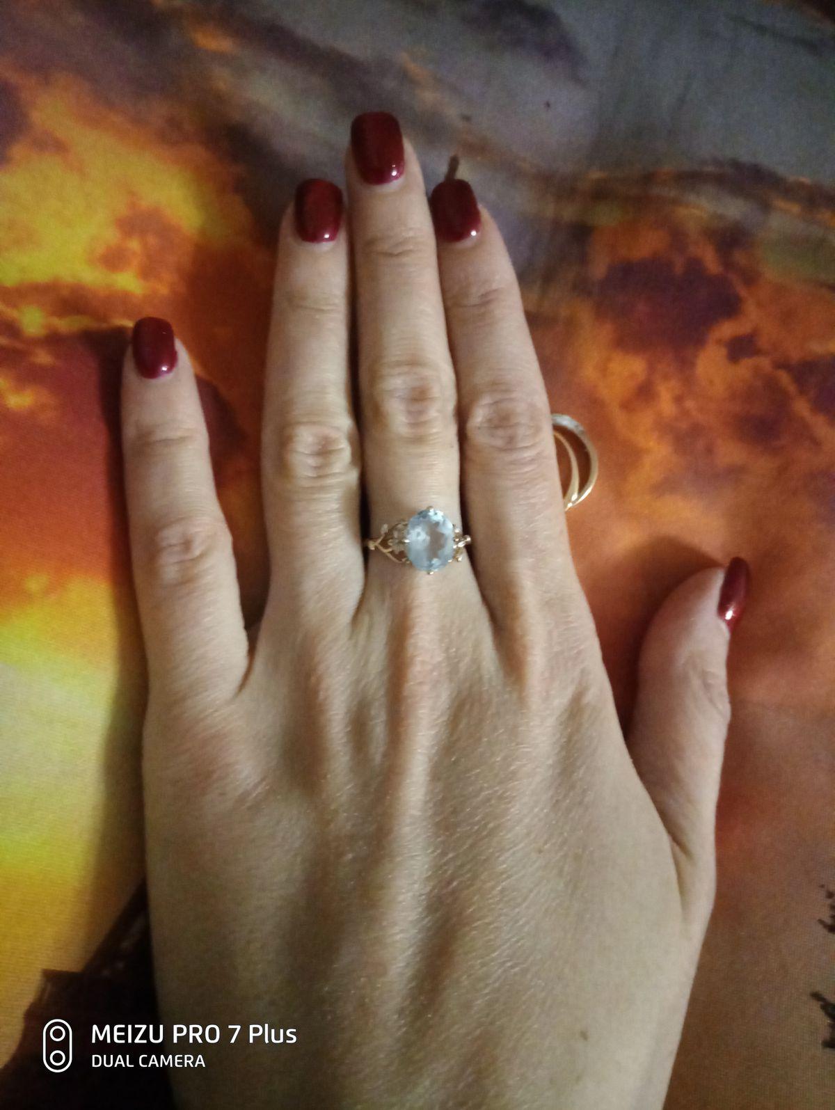 💍 кольцо с топазом
