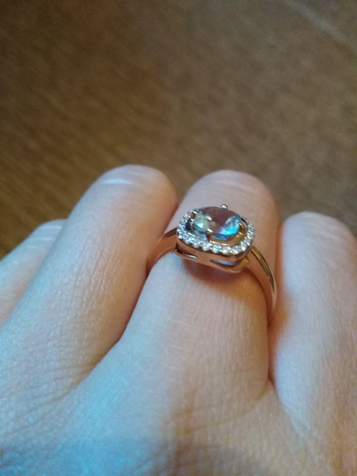 Шикарное кольцо с топазом!!!