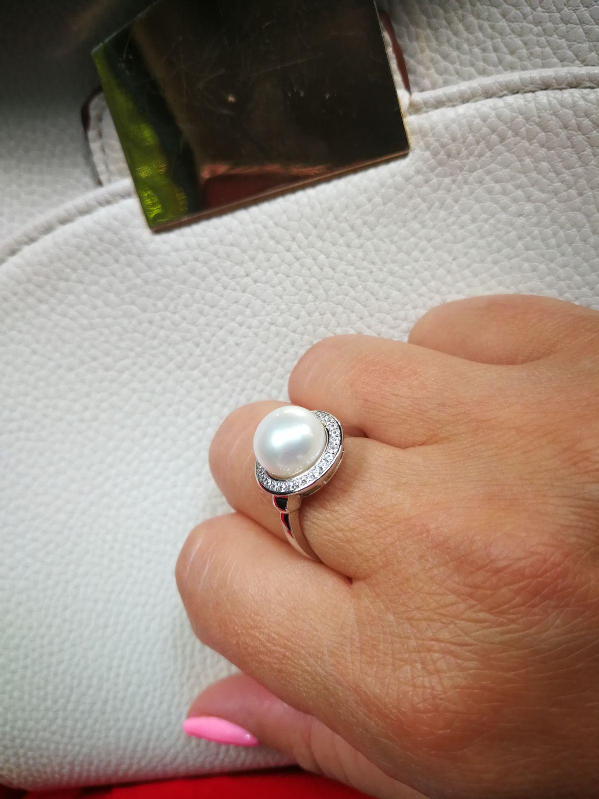 Кольцо жемчуг