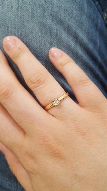 Прекрасный вариант для помолвочного кольца