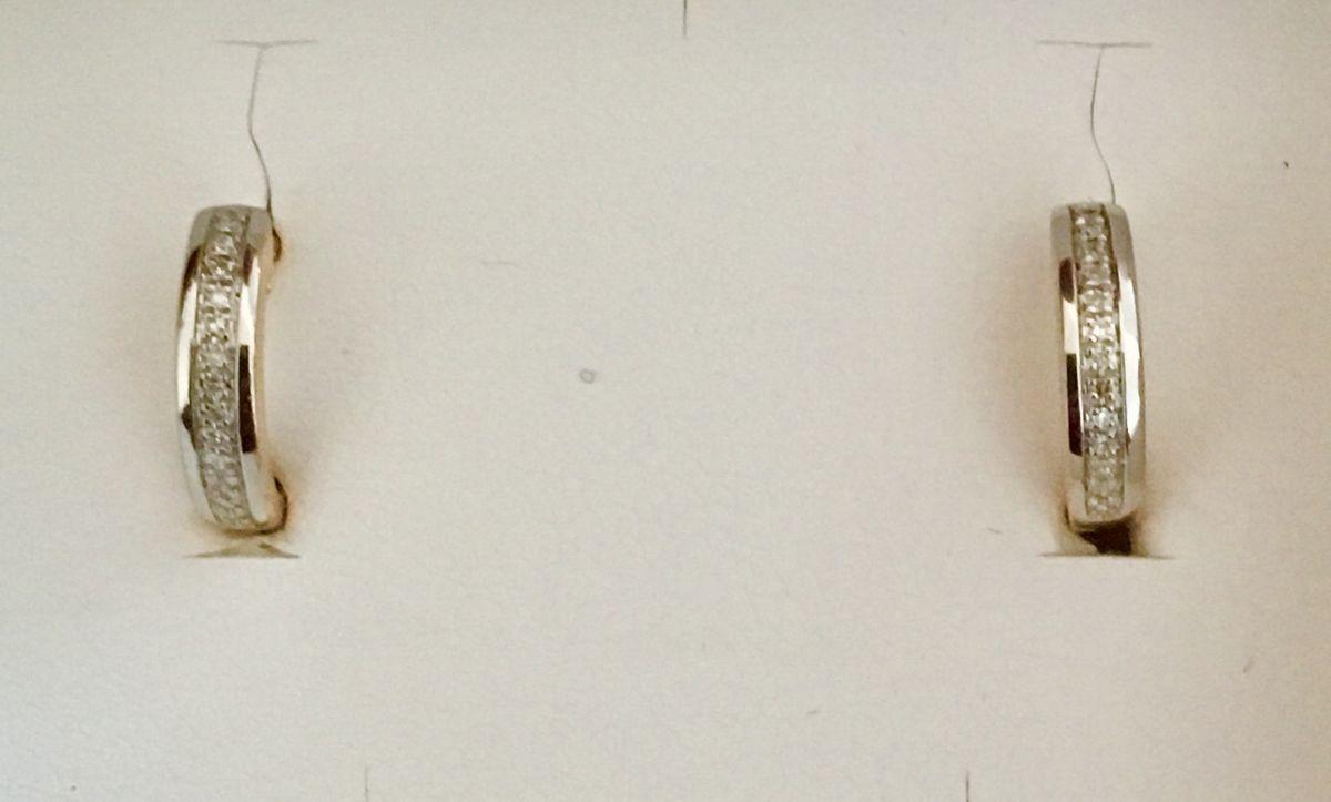 Золотые серьги с сапфирамм и бриллиантами