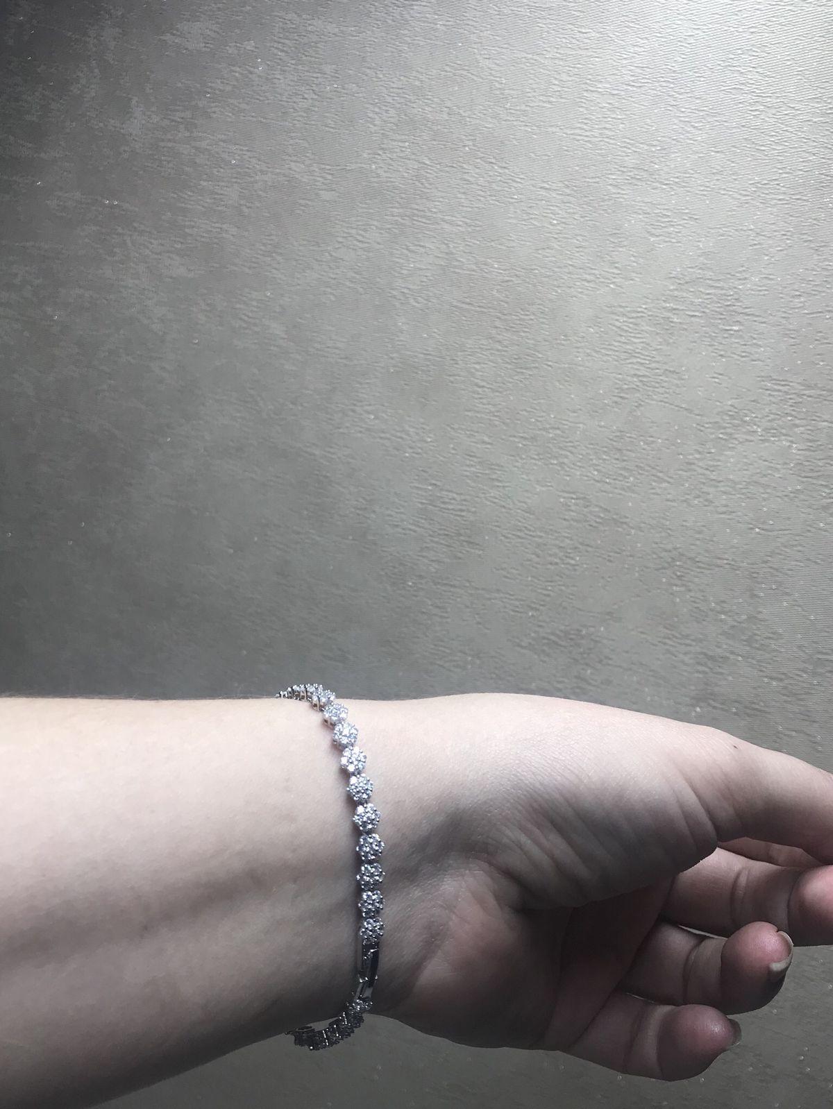 Серебрянный праслет с фианитами