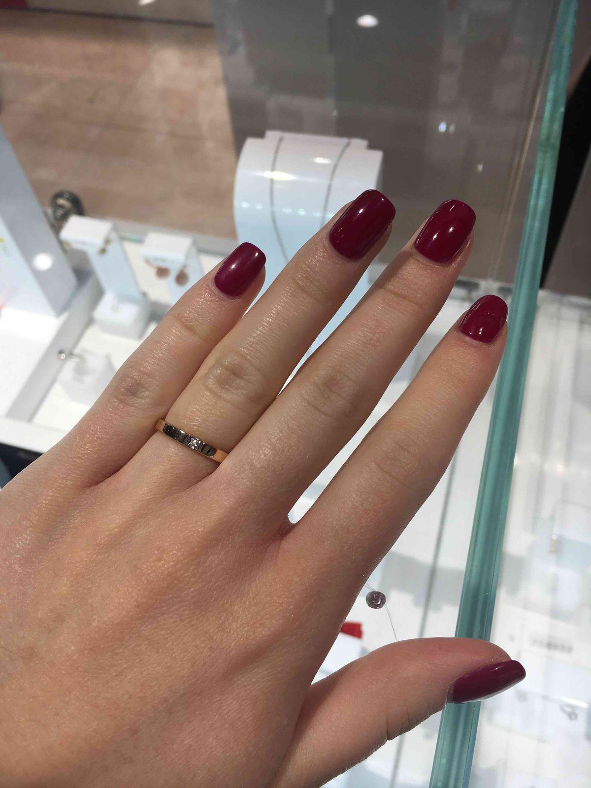 Кольцо с блиллиантом