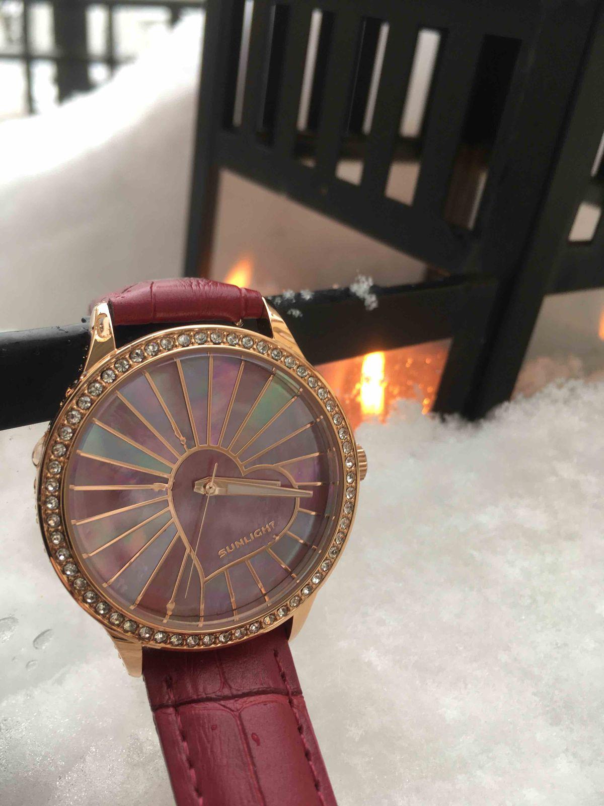 Часы-«валентинка»