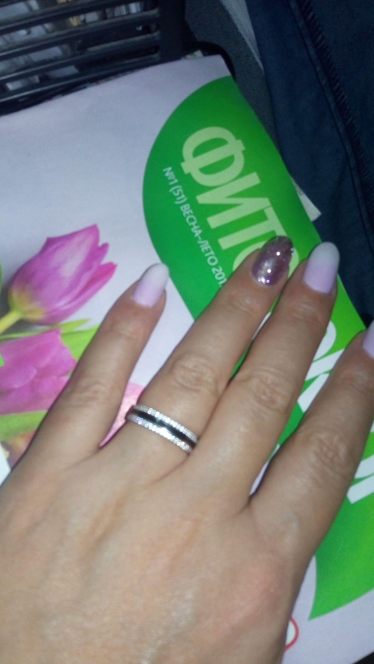 Кольцо серебро эмаль
