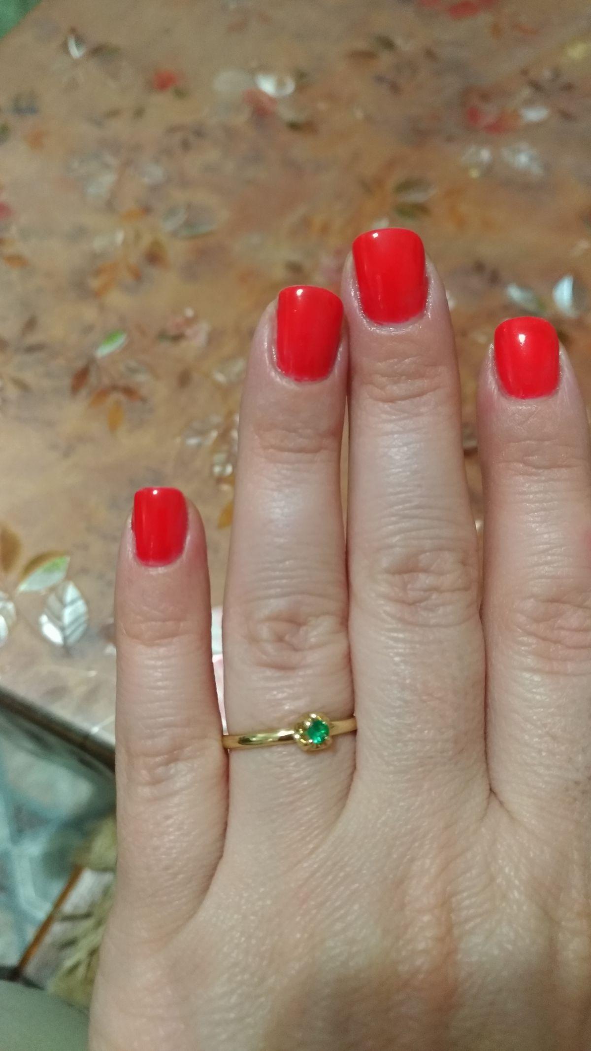 Кольцо с изумрудом
