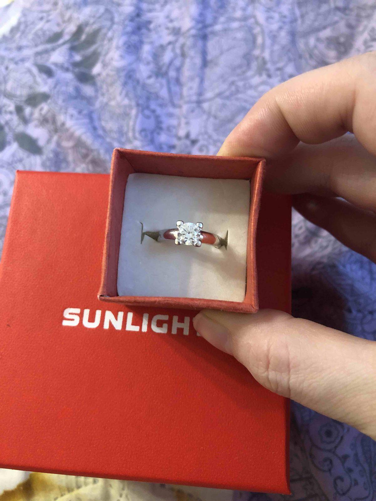 Серебряное кольцо с фианитом SOKOLOV