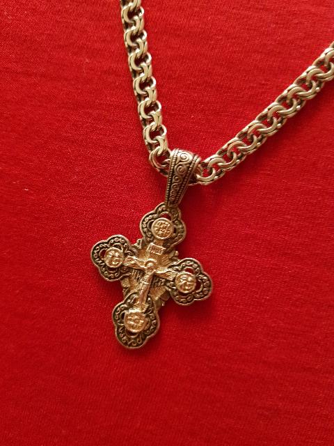 Крест серебрянный 925