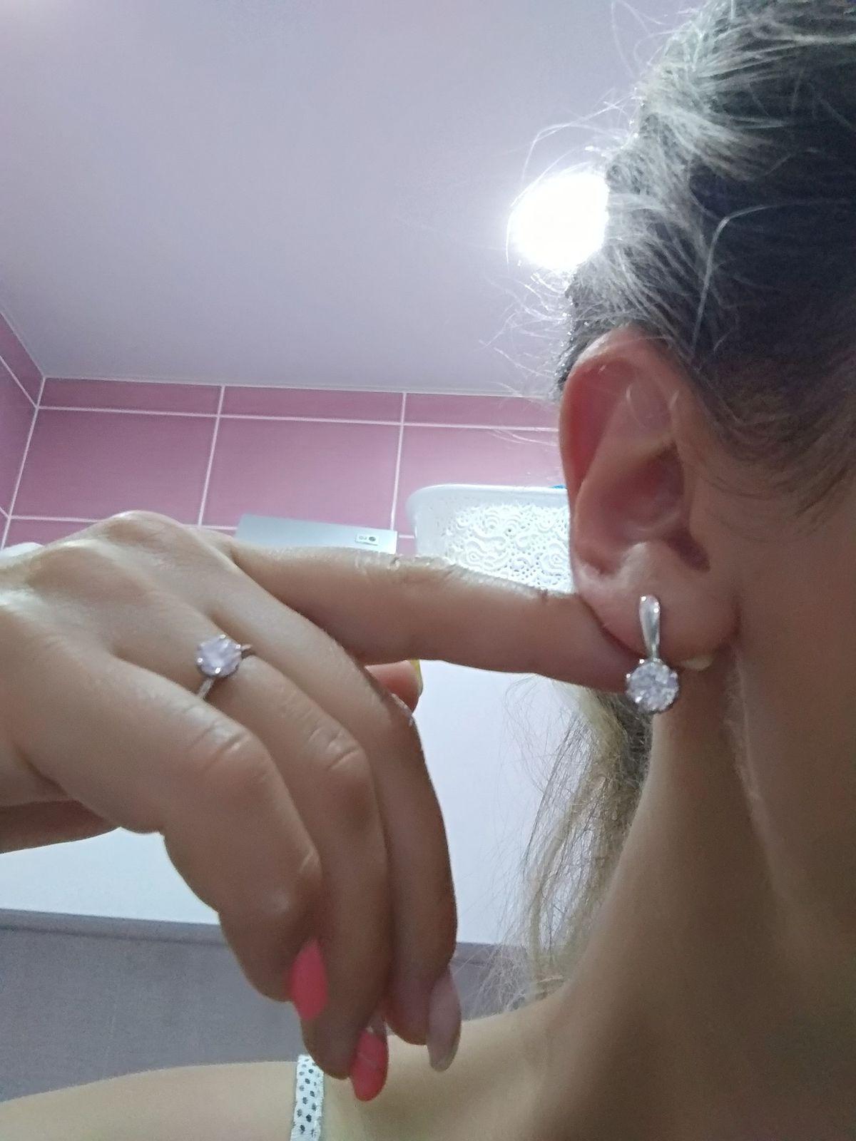 Серьги с кристаллами Соколов