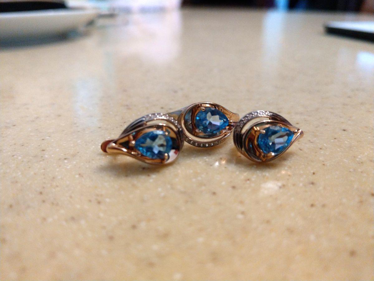 Красивое кольцо с Swiss топазом