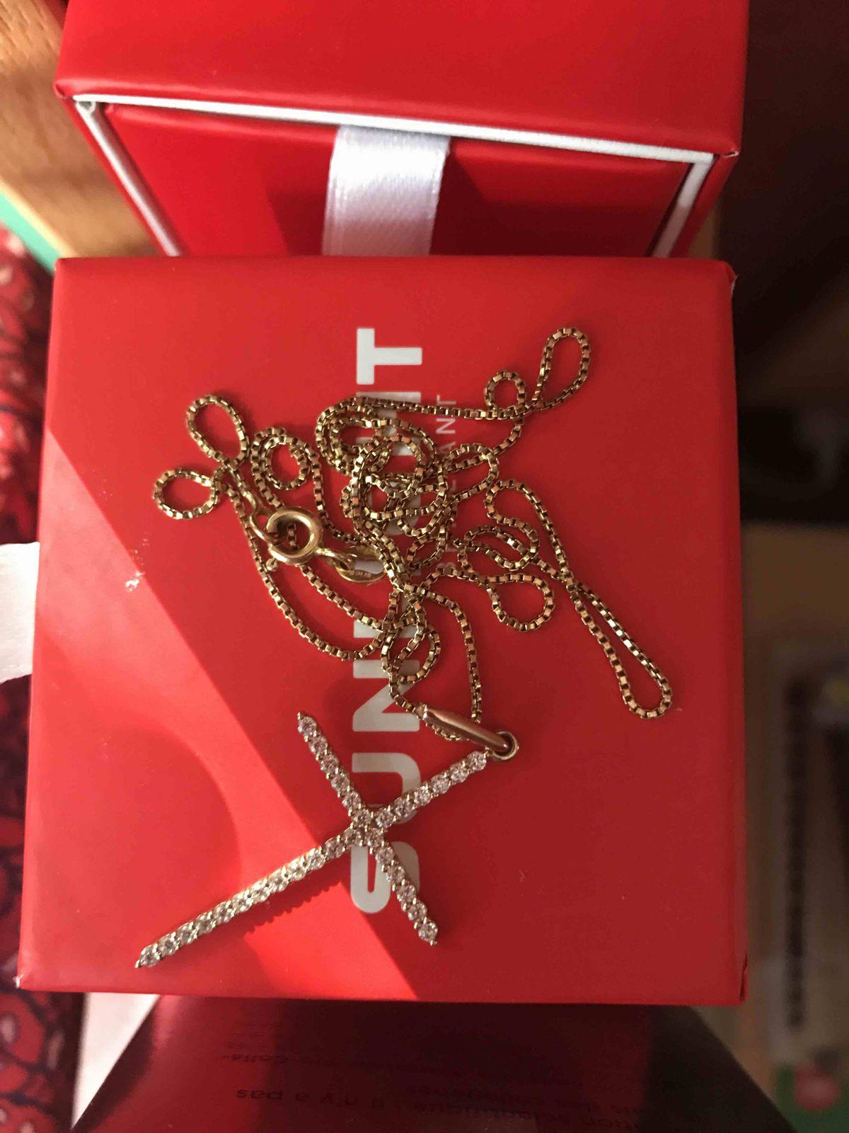 Ювелирный золотой крестик