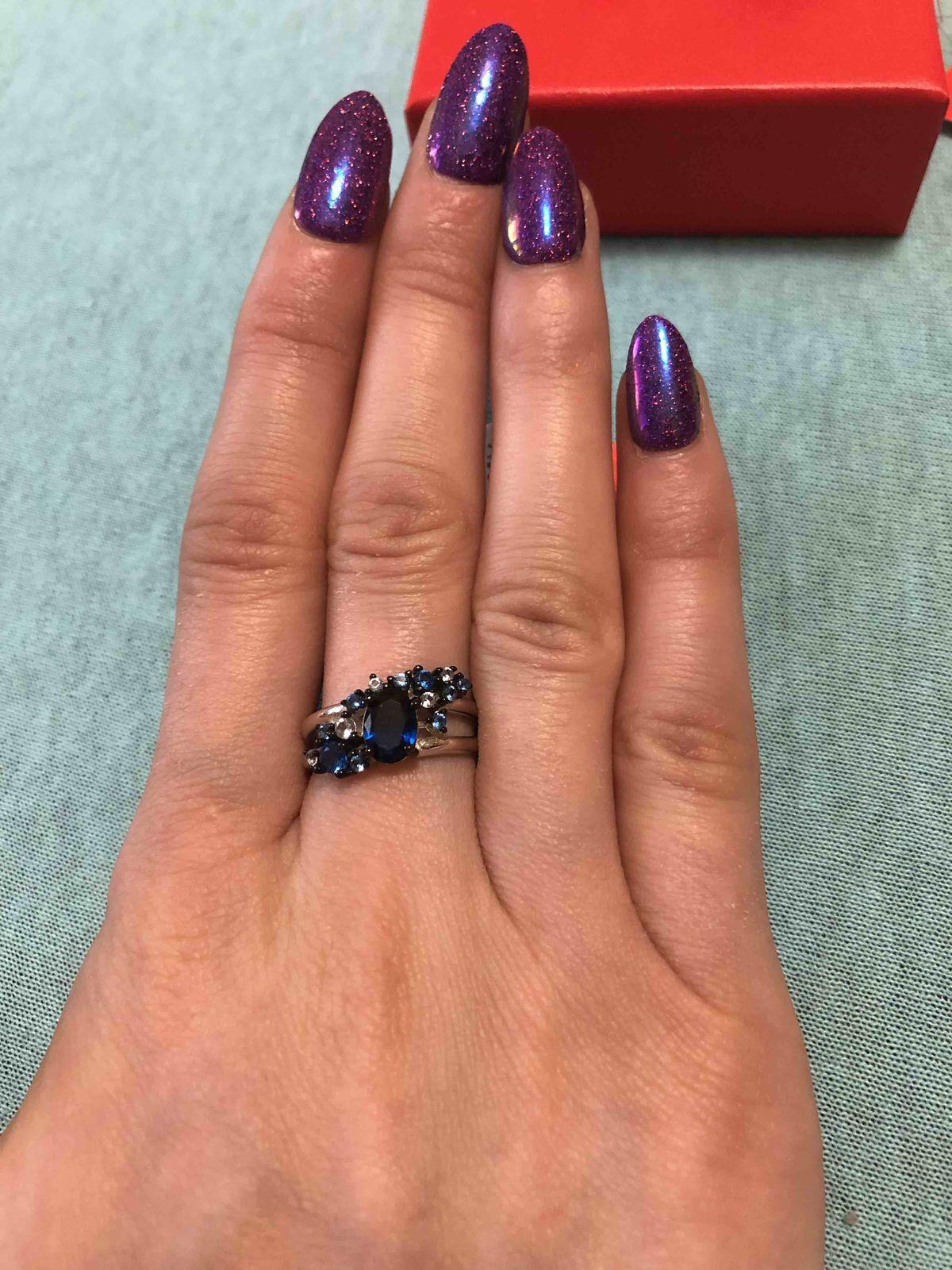 Серебрянное кольцо с алпанитом и фианатами