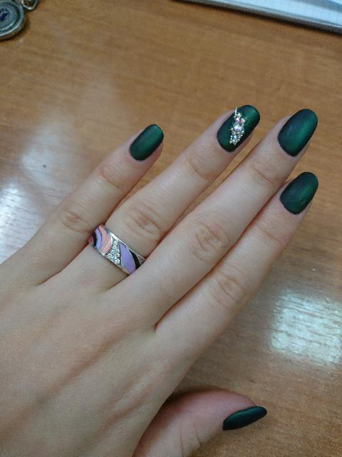 Кольцо с эмалью 💍