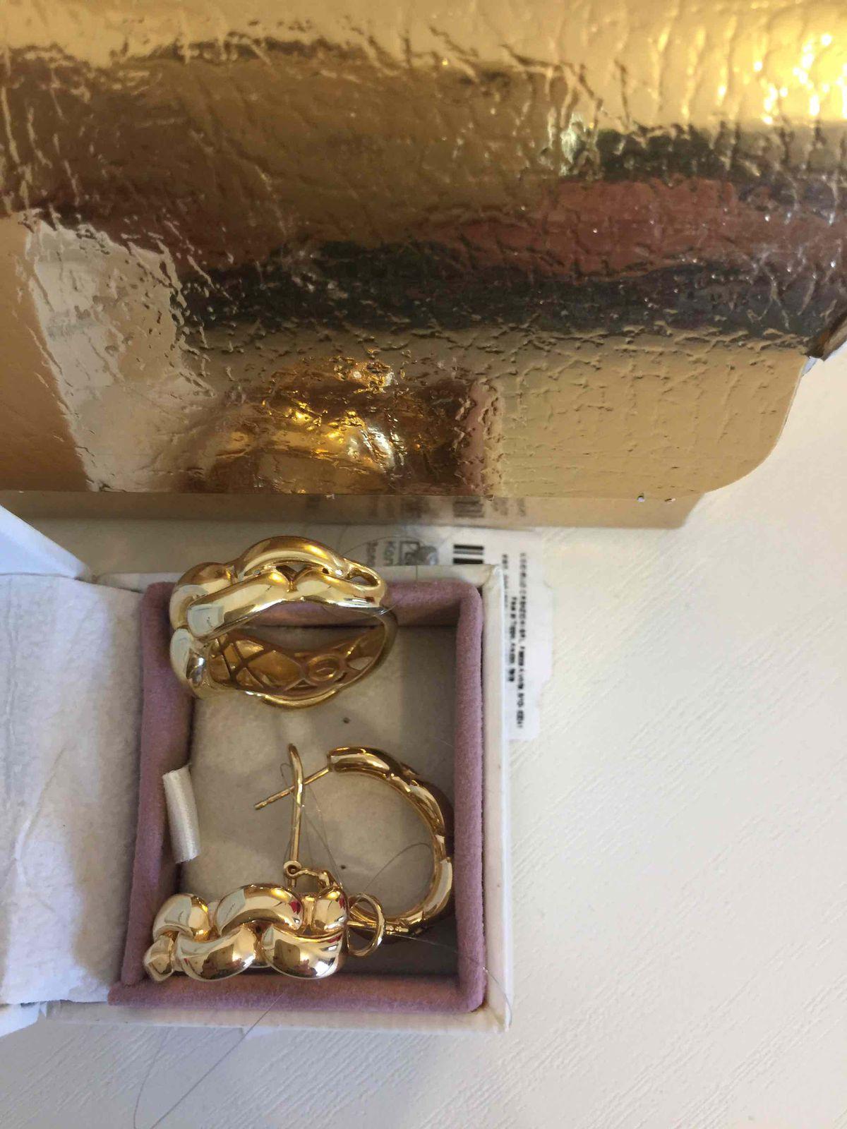 Итальянские золотые серьги