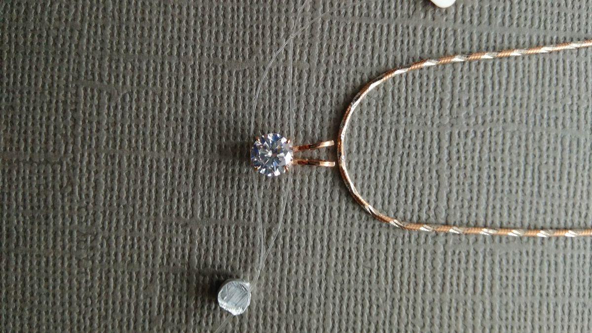 Серебряная цепочка с позолотой.