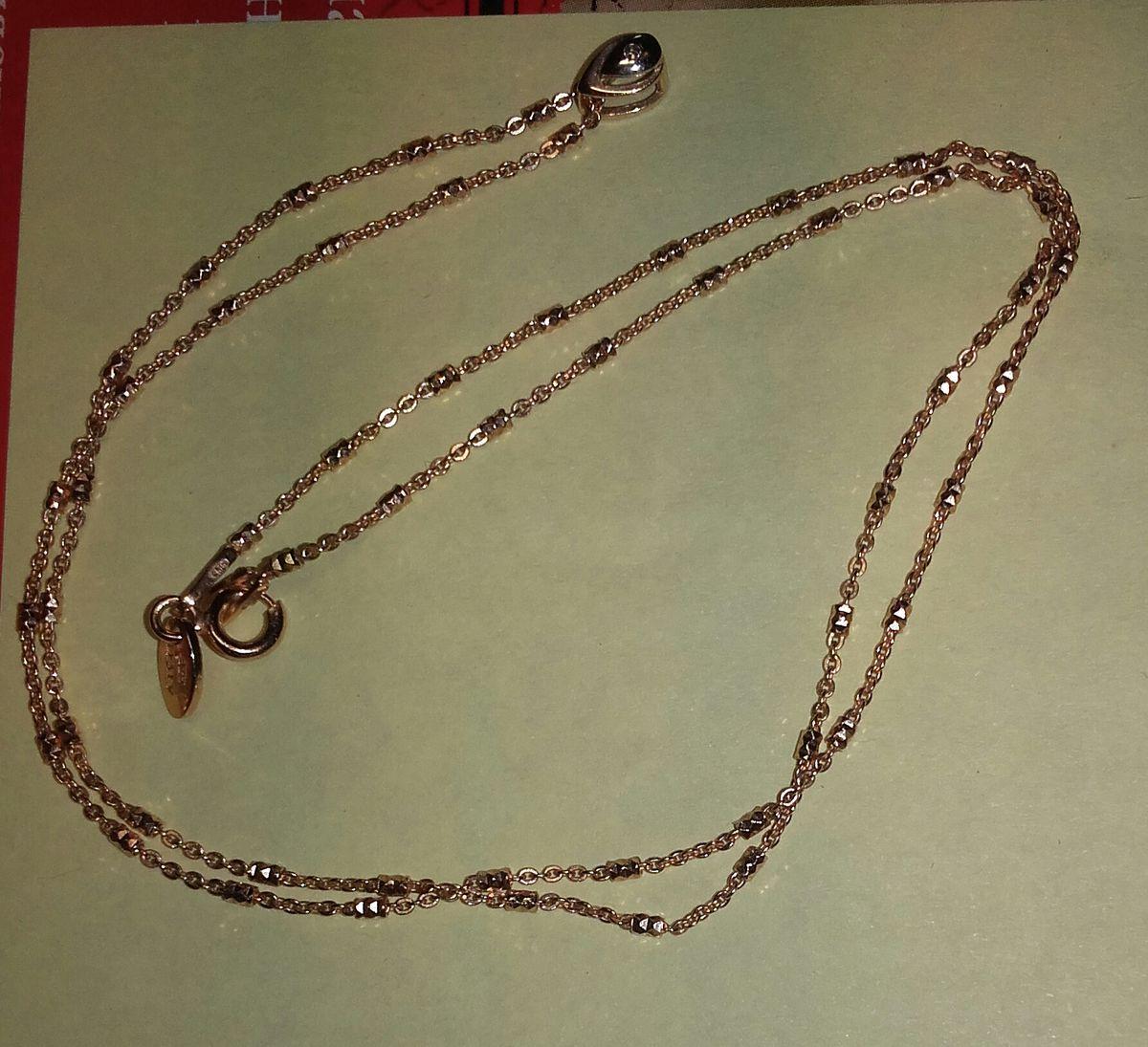 Серебряная позолоченая цепочка