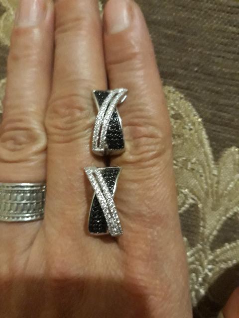 Серьги серебро с фианитами